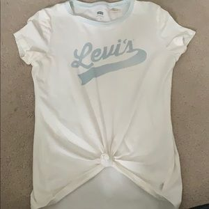 Levi's small blue and white logo tee